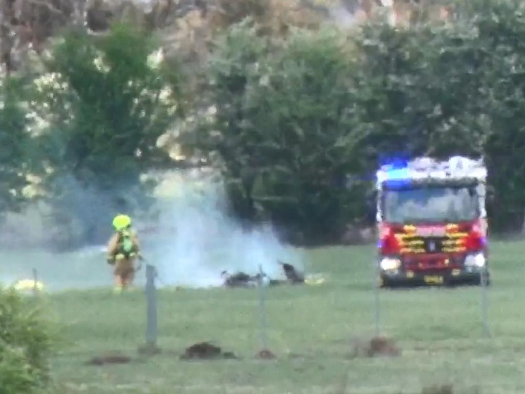 A light aircraft gyrocopter has crashed 2km southeast of Orange airport. Picture: TNV