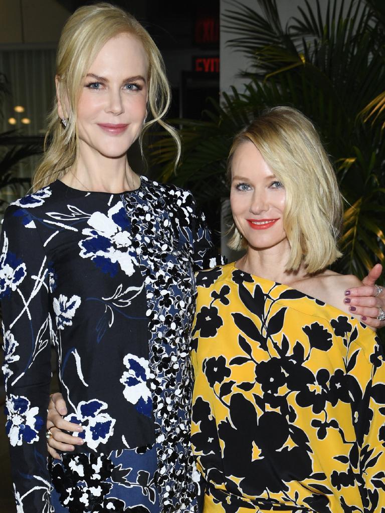 BFFs Nicole Kidman and Naomi Watts. Picture: Getty