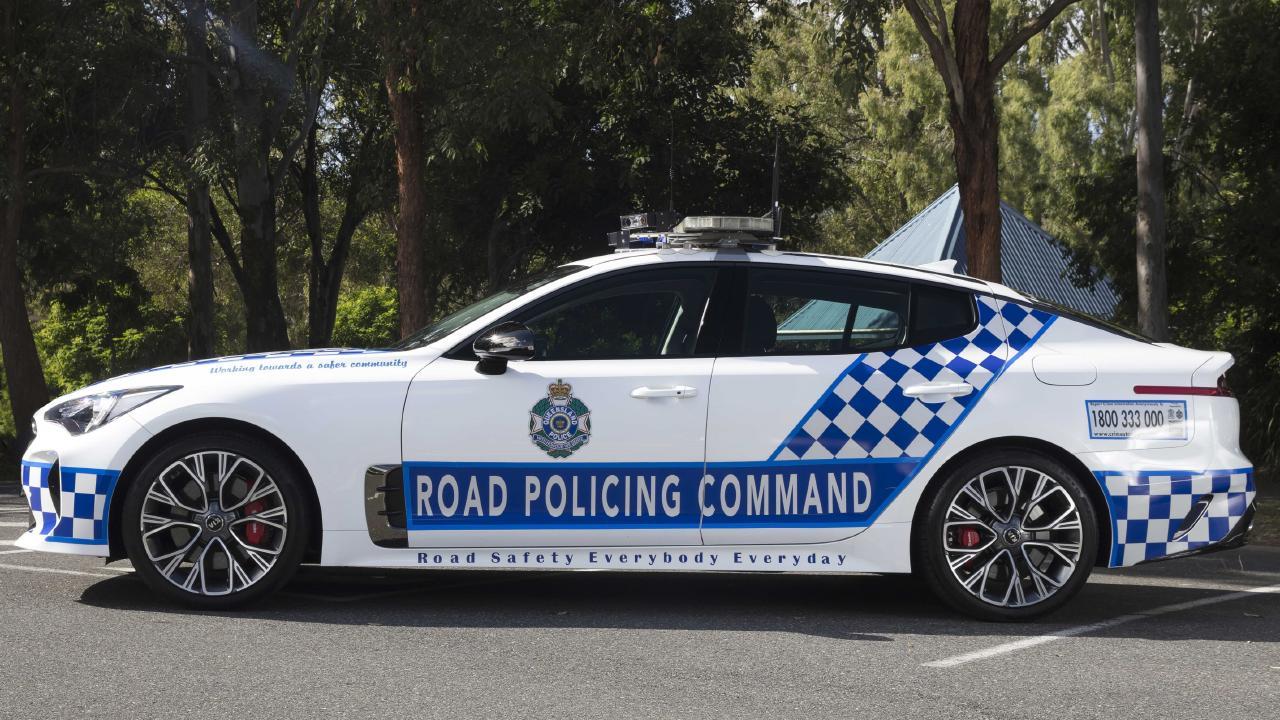 Queensland Police Kia Stinger highway patrol car. Picture: Supplied.