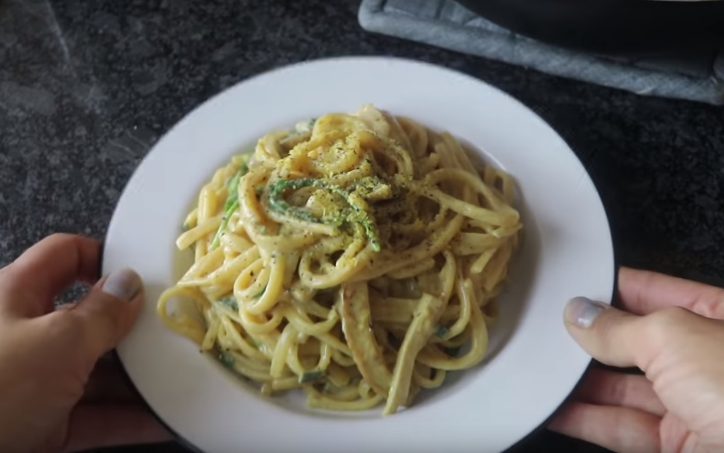 The Cheap Lazy Vegan shared this vegan Toowoomba Pasta dish to YouTube.