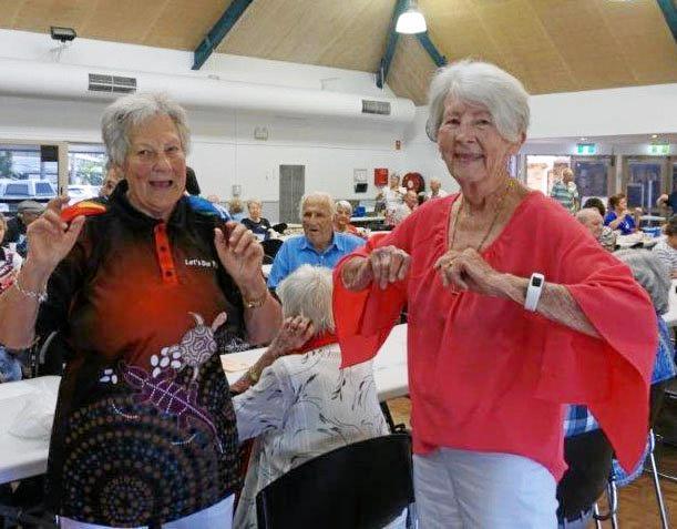 GOOD TIMES: Kawana Seniors members at a recent meeting enjoying regular activities like dancing and indoor bowls.