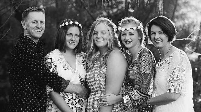 Allan, Molly, Sophie, Olivia and Beverley Harwood. Photo: Aislinn Photo Art