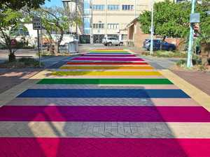 Lismore's rainbow crossing... yes, it's actually happening