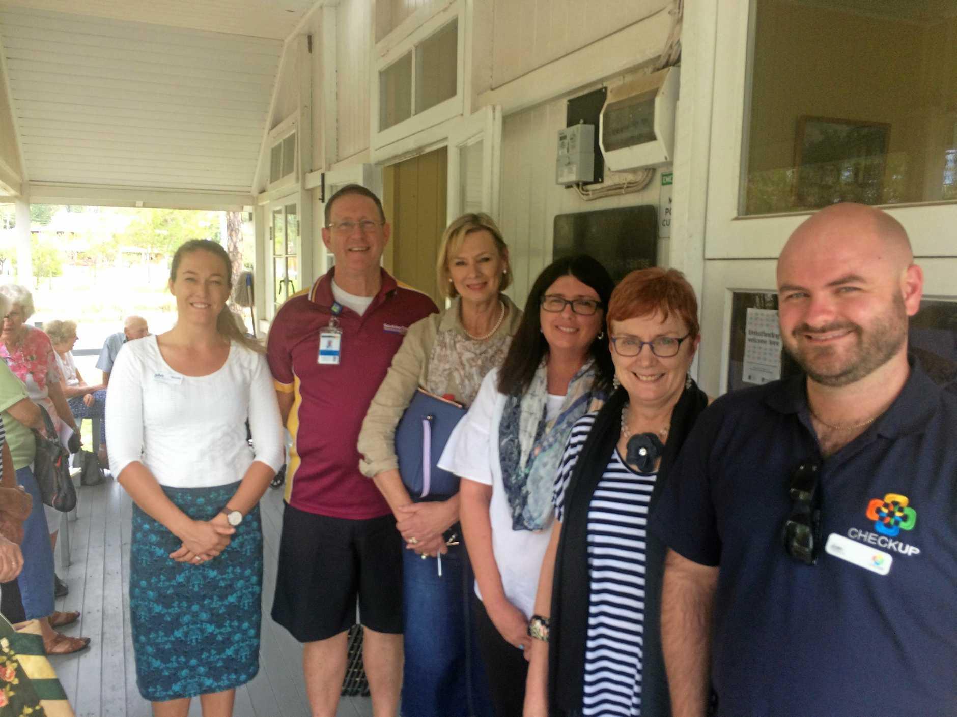 NEW TEAM: Nicole Cool, P Milo Frawley, Jenny Doherty, Amber Scott, Dr Sandra Zeeman and Josh French at the Kilkivan Community Health Centre.