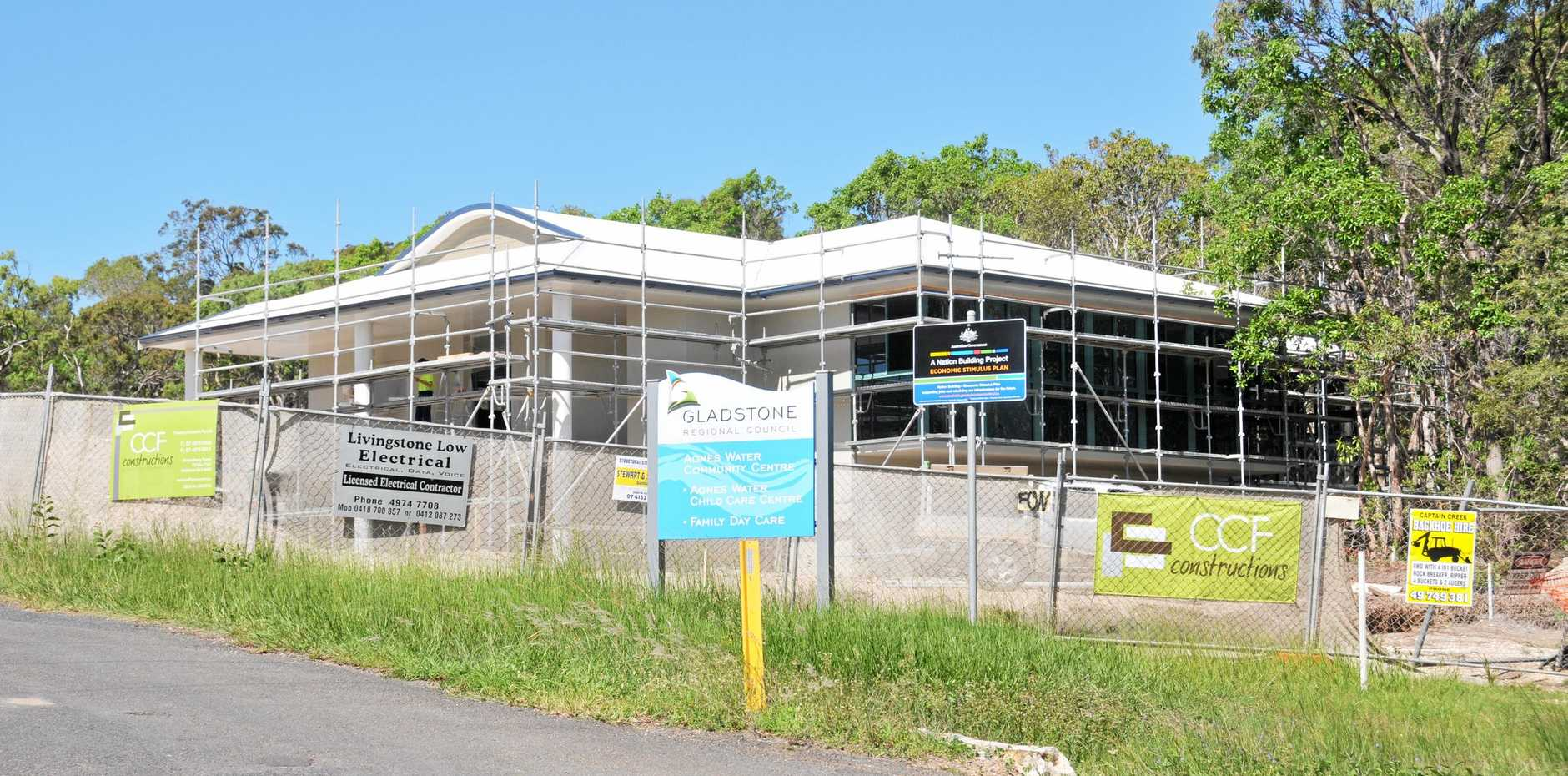 The Community Centre on Spring Street, Agnes Waters, during Stage One of construction in 2010.