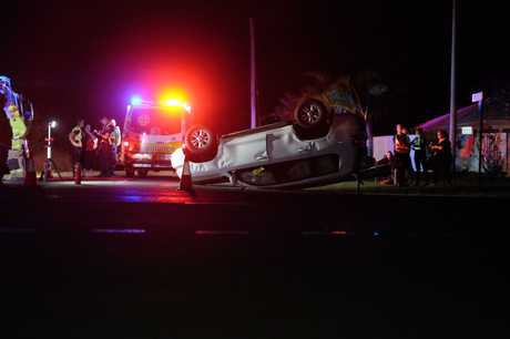HALLOWEEN SCARE: Trick-or-treaters had experienced a different kind of spook when two cars collided in Bargara.