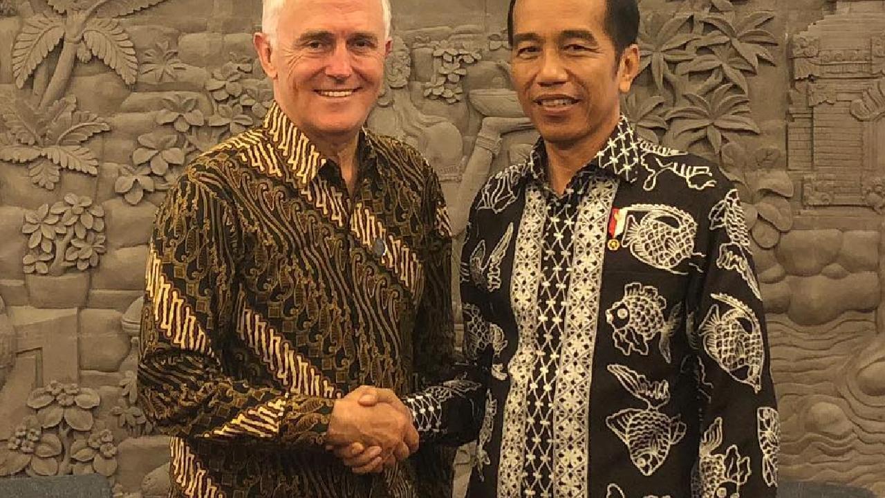Malcolm Turnbull with Joko Widodo. Pic: Instagram