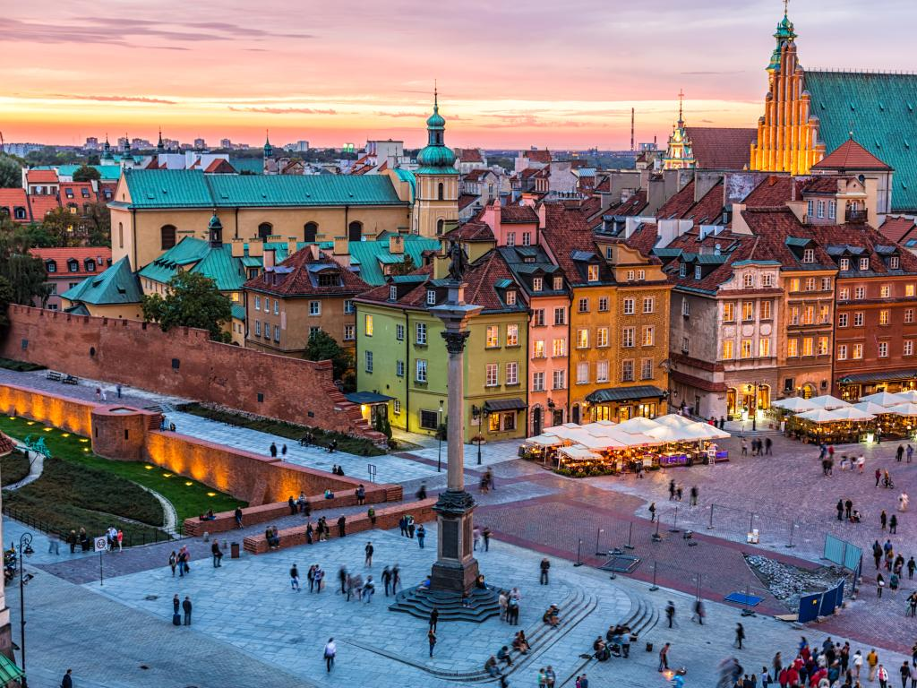 Take me back: Warsaw's picturesque old town.