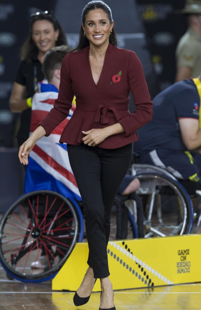 Meghan in a Scanlon Theodore jacket.