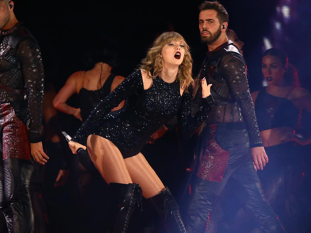 Taylor Swift in action at Perth's Optus Stadium last month. Picture: Paul Kane/Getty Images