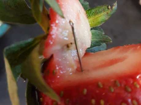 The original scare began with a contaminated strawberry in Queensland.