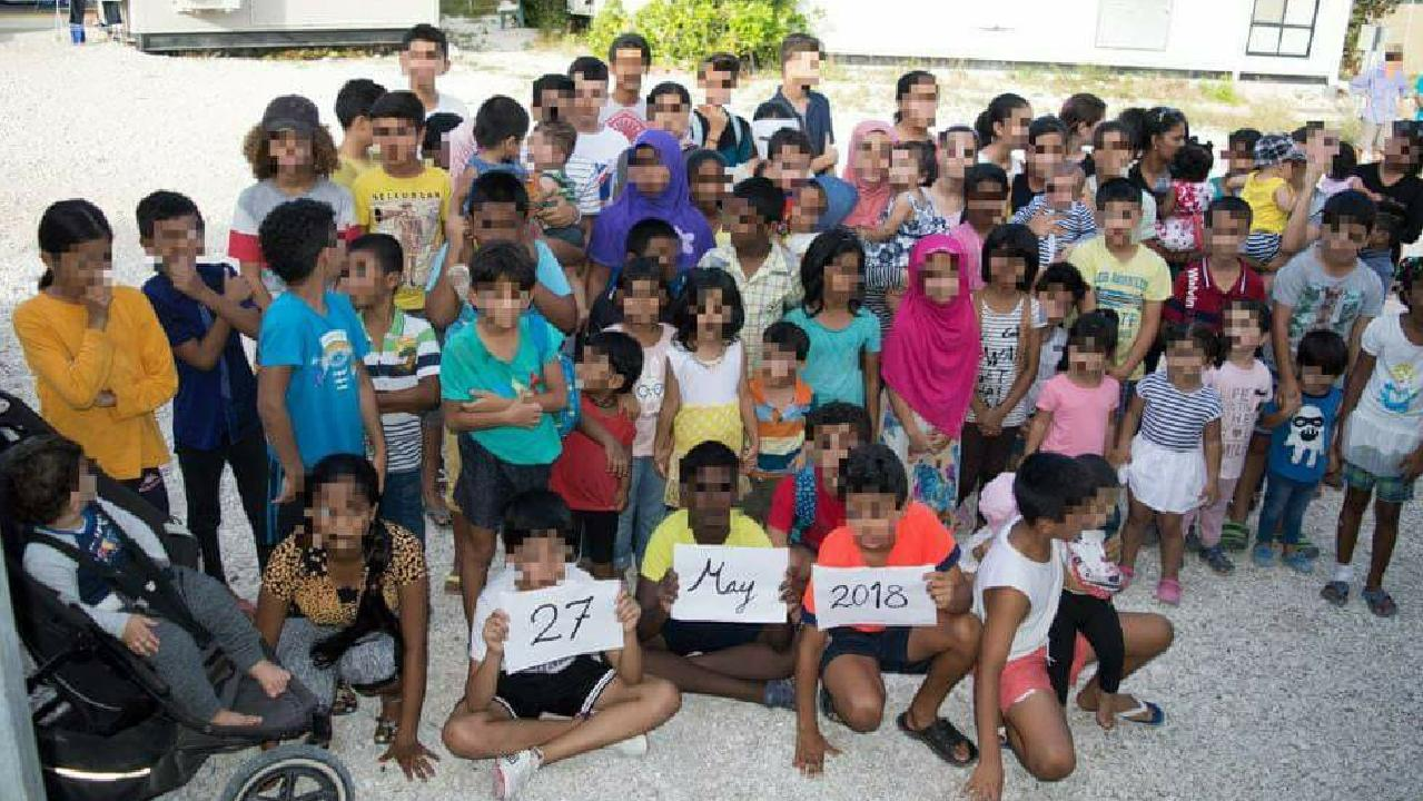 Children in the government detention camp on Nauru last year.