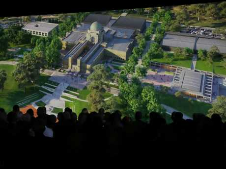Attendees at the launch today saw artist's impressions of the proposed expansion. Picture: Gary Ramage