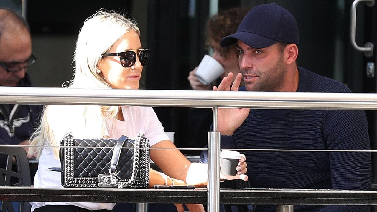 Roxy Jacenko with John Macris' brother Alex. Picture: Backgrid