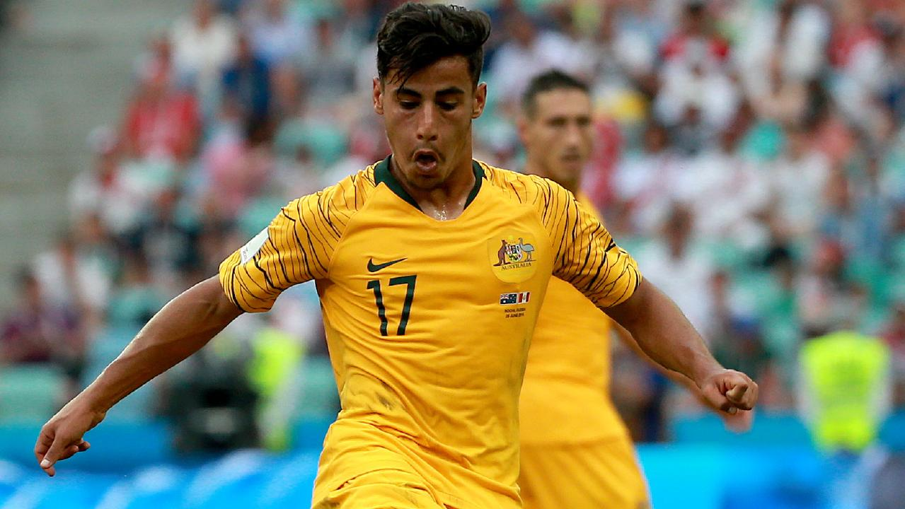 Daniel Arzani in action during the 2018 World Cup in Russia. Picture: Toby Zerna