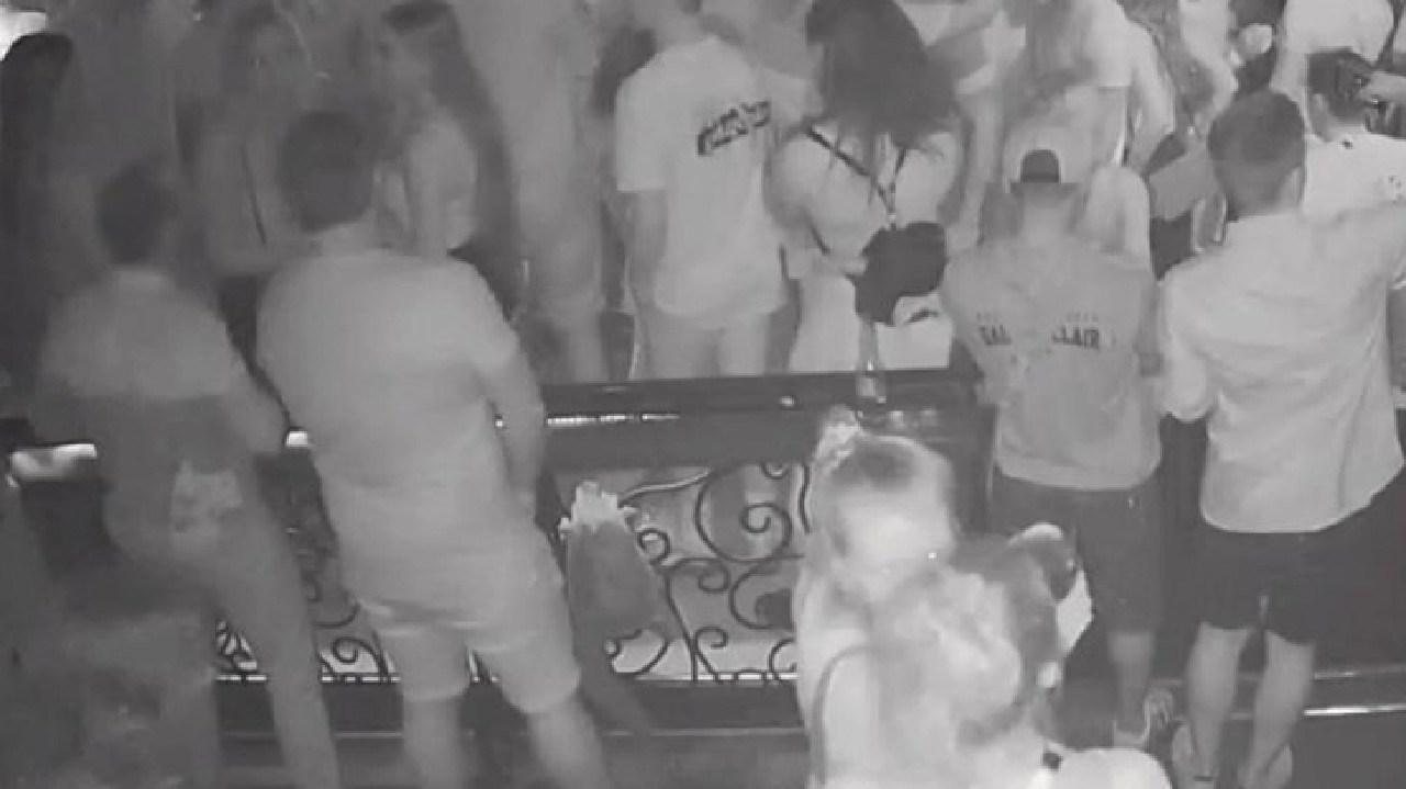 CCTV of Stephen Lavelle in a Gold Coast nightclub. Source: Nine News.
