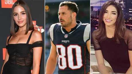 Olivia Culpo, Danny Amendola and Bianca Peters.
