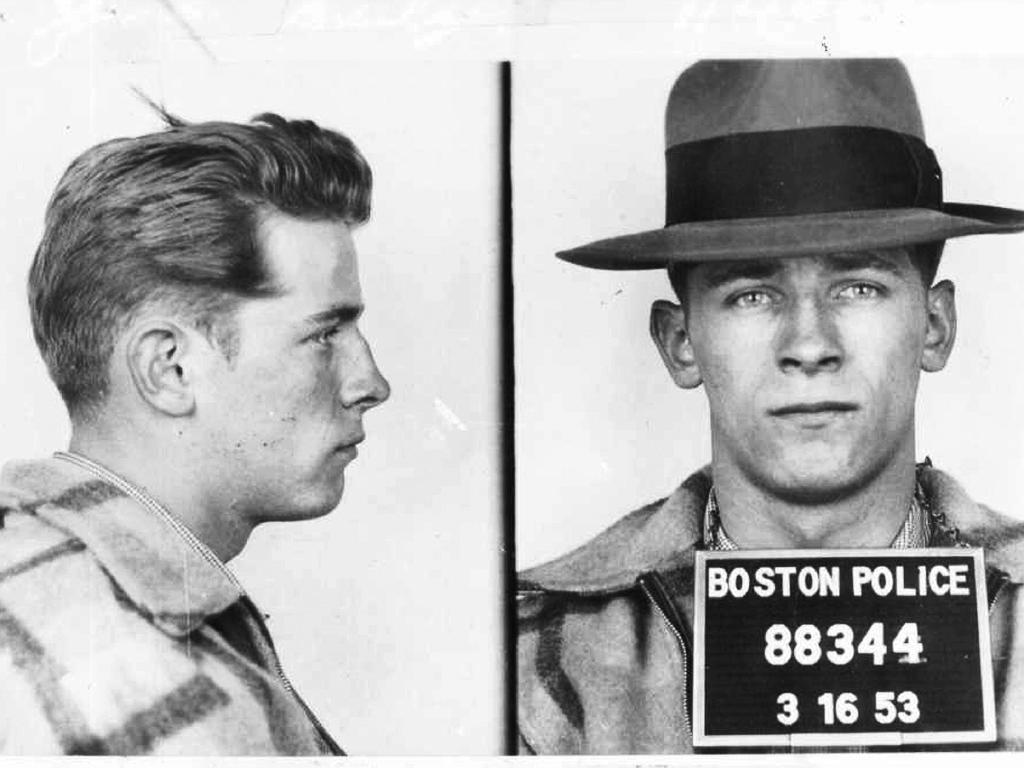 """Boston police booking photos show James """"Whitey"""" Bulger after an arrest. Picture: Boston Police/The Boston Globe via AP"""