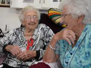 Elderly sisters talk about life