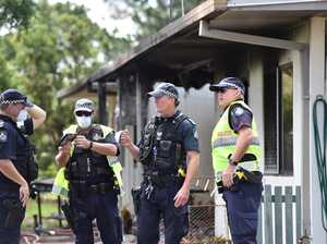 Home gutted by fire, one in custody