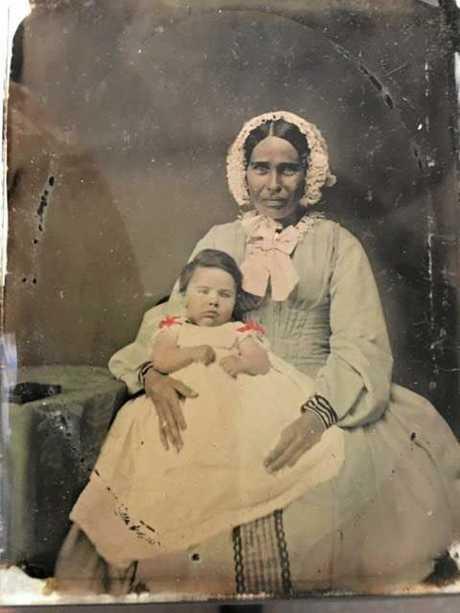Elizabeth, Joseph's wife, with Sarah Jane.
