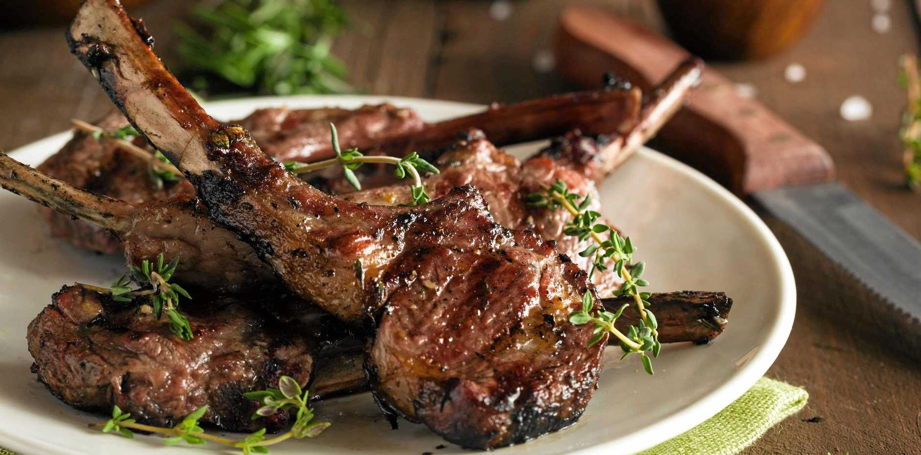 Maggie Cooper's marinated lamb cutlets.