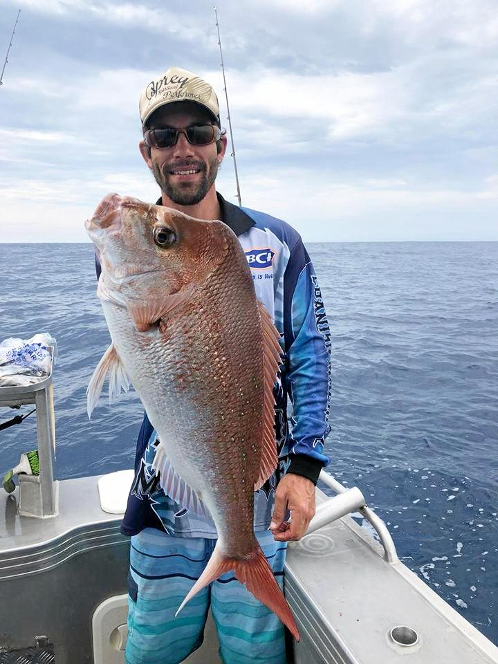 Luke McCombe from Maroochydore has had great luck catching a few fish. He enjoyed bringing this quality snapper out side of Double Island Point and the reefs off the Wide Bay Bar.