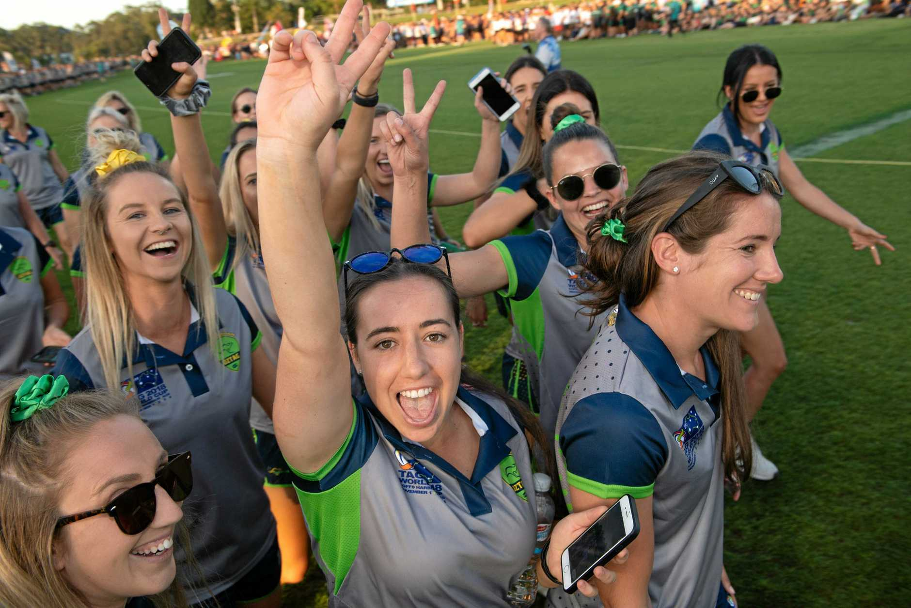 INTERNATIONAL: Tag World Cup openning ceremony, the Australian team members ready to rumble,