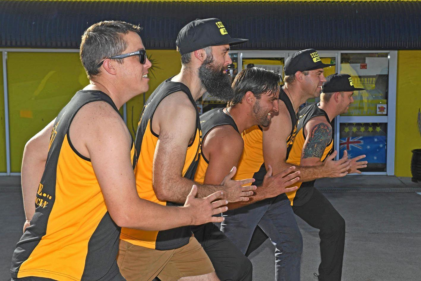 Doug Rose, Dale Tucker, Tadd Marturano, Dean walker, Harry Johnston preparing for 1440km run for mens health.
