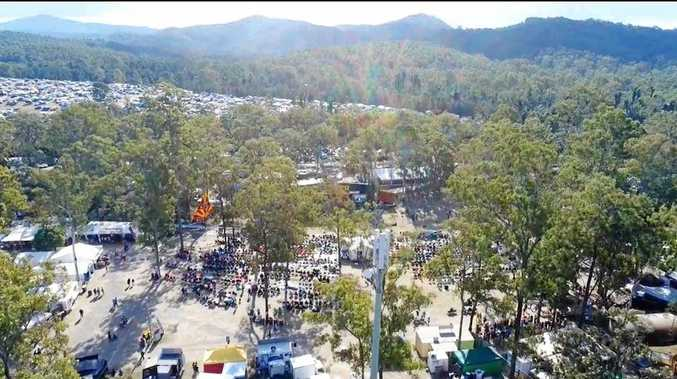 DRONE FOOTAGE: An aerial shot of the 2018 Gympie Muster.