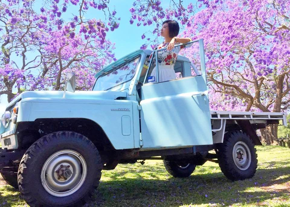 SNAP: Tourists were drawn to Michael Hill's 1978 Nissan Patrol G60 Ute at See Park on Jaca Thursday.