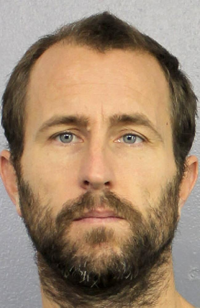 Lewis Bennett is alleged to have killed his wife Isabella Hellman while sailing on their honeymoon. Picture: Broward Sheriff's Office