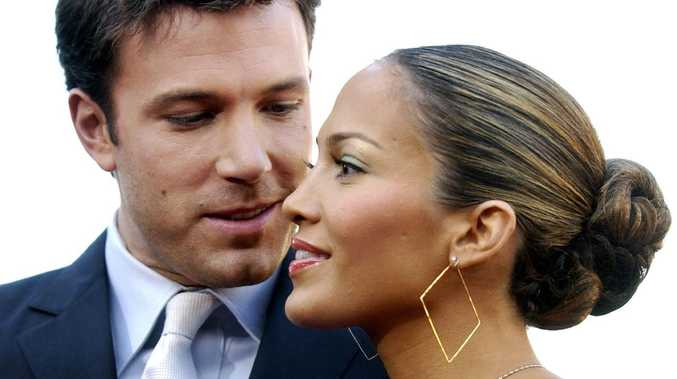 Former couple Ben Affleck and Jennifer Lopez at a film premiere in 2003.