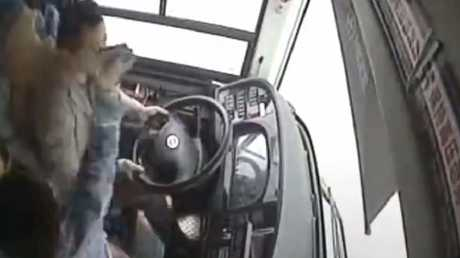 A bus plunged into the Yangtze River in China after a passenger and the driver got into an altercation.