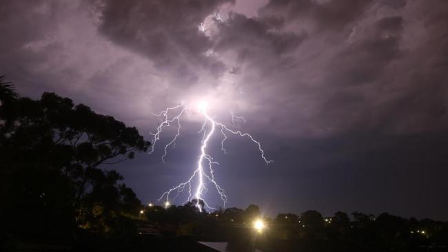 Lightning storm at Huntfield Heights. Photo Zachary Andrew Mabus