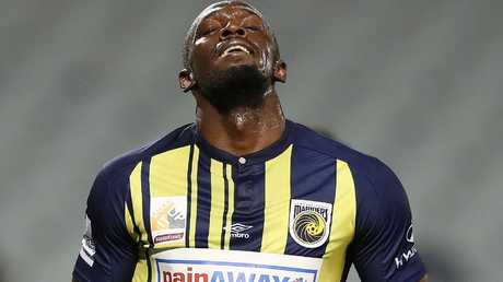 Usain Bolt will pursue opportunities elsewhere after failing to accept a deal with the Mariners. Picture: Brett Costello