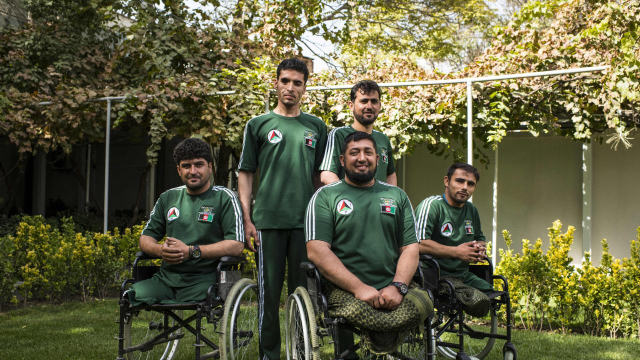 Afghan athletes for the Invictus Games pictured at the Australian Embassy.