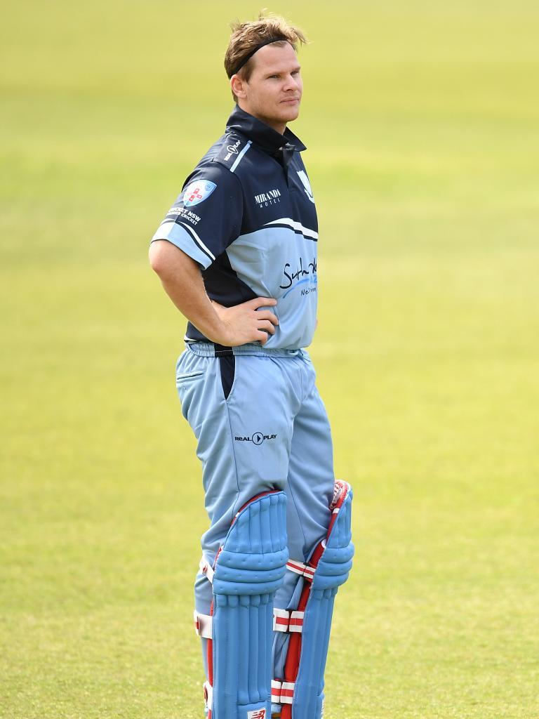 Steve Smith batting for Sutherland in September. Pic: AAP/Joel Carrett.
