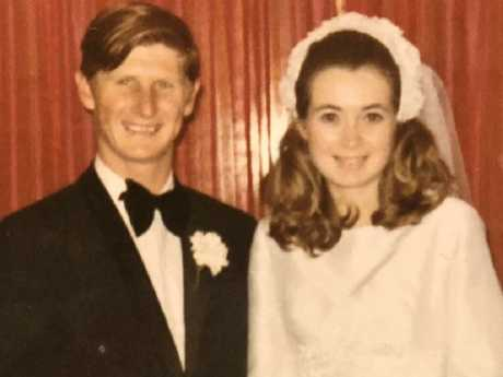 John and Roxlyn Bowie on their wedding day