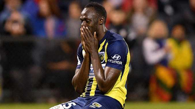 Usain Bolt has called it quits on his A-League dream with Mariners. Picture: AAP