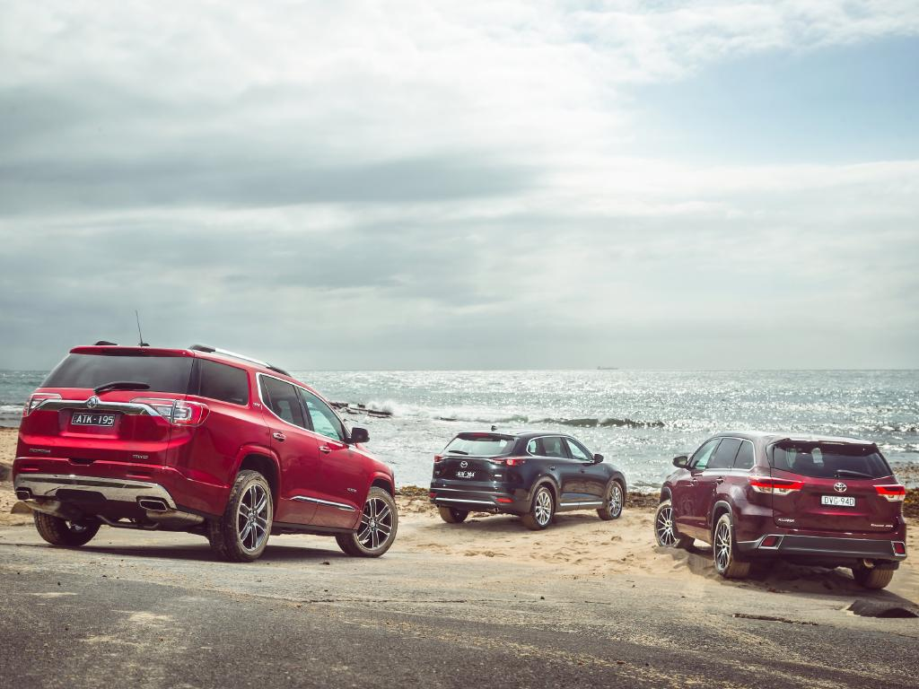 Acadia, CX-9 and Kluger