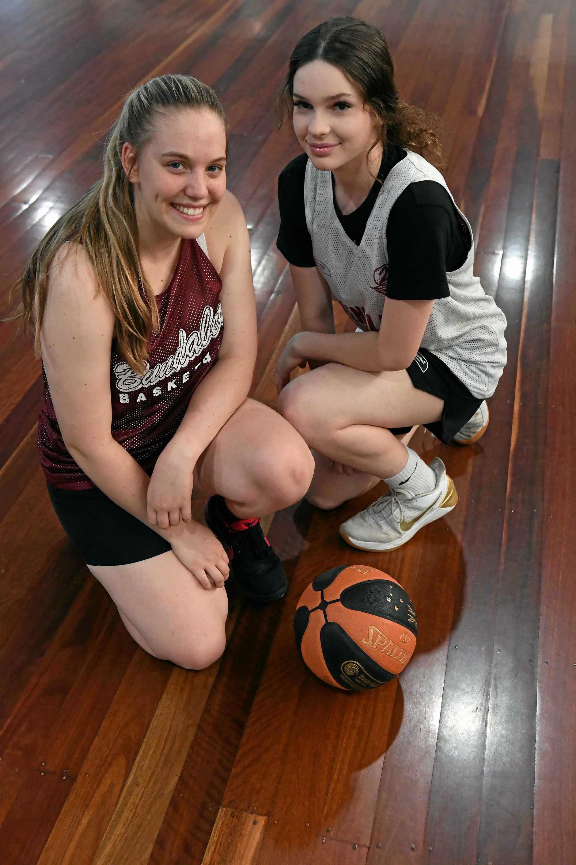 BASKETBALL: Makayla Mortensen and Lucy McCollum.