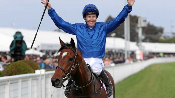 Caulfield Cup winner Best Solution will jump from barrier six in the Melbourne Cup. Picture: David Crosling/AAP