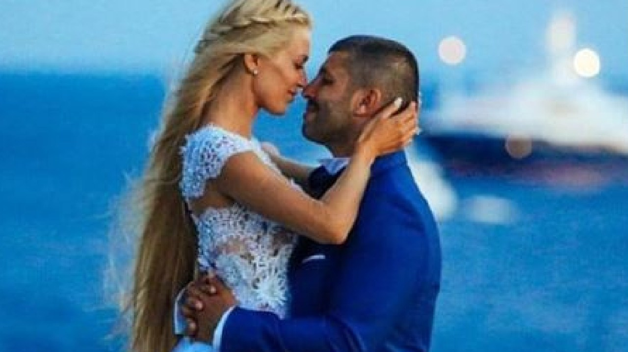 Viktoria Karida and John Macris at their 2016 wedding. She has called him the love of her life. Picture: Supplied