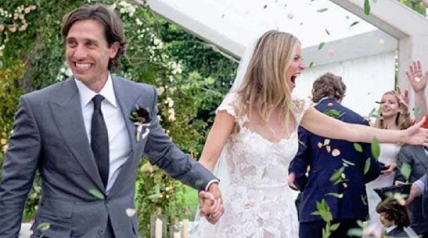 Gwyneth Paltrow shared her wedding snaps to Brad Falchuck. Picture: Supplied
