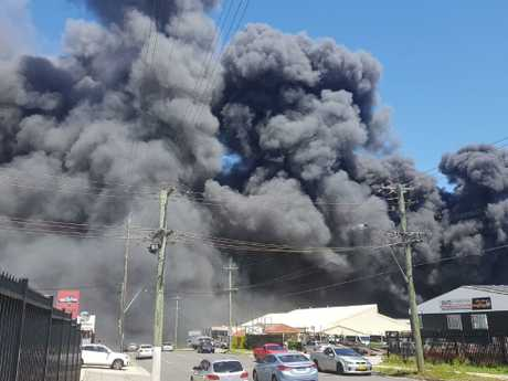 A photo of the blaze earlier today. Picture: David Swift.