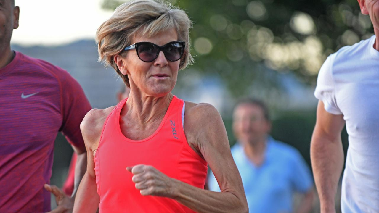 Julie Bishop is a keen runner and has hit the pavements of many cities around the world. Picture: AAP