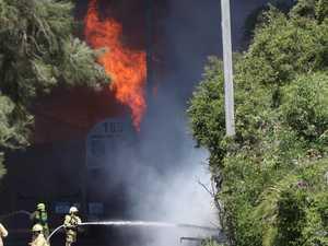 Eighty firefighters battle huge blaze