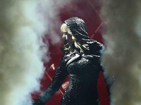 Swift in her black sequin body suit. Picture: Mark Metcalfe.