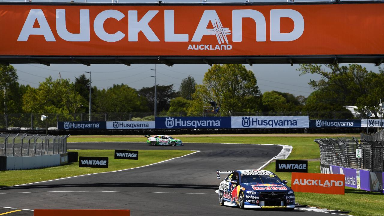 Shane van Gisbergen drives his Holden Commodore ZB during practice. Picture: Getty
